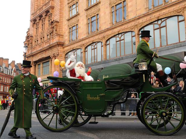Father Christmas in the Harrods Christmas Parade