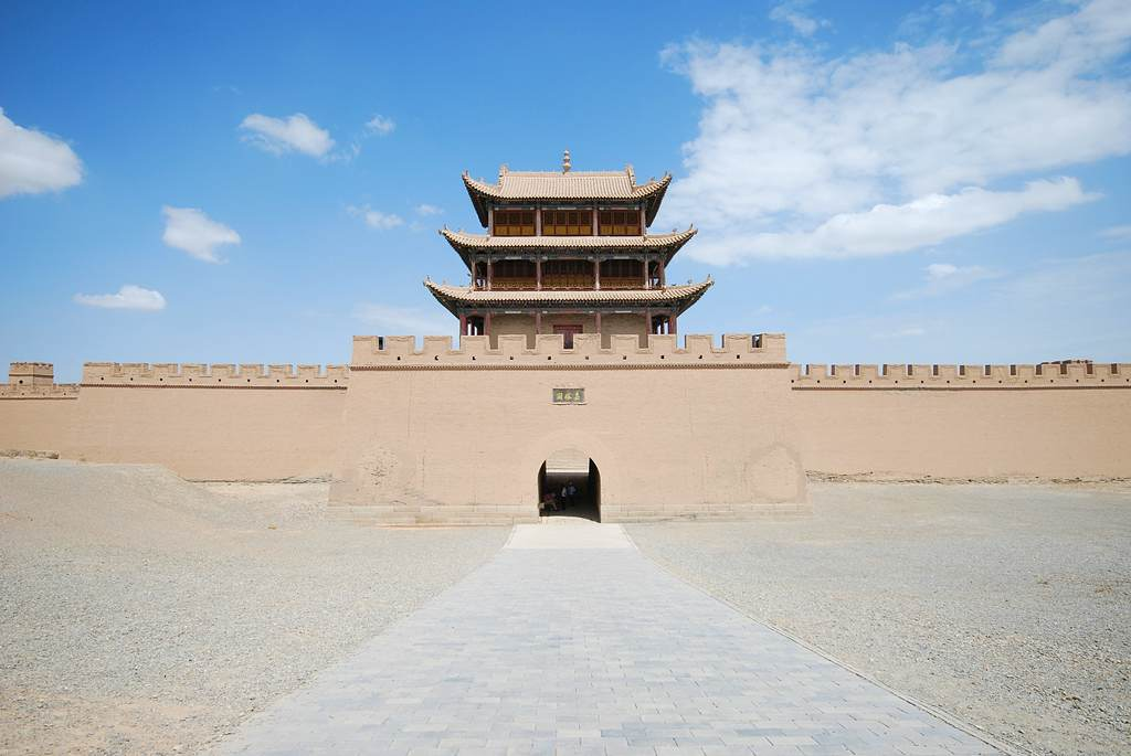Jiayuguan Fort at the western end of the Great Wall